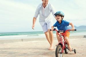 Cómo enseñarle a tu nene a andar en bicicleta