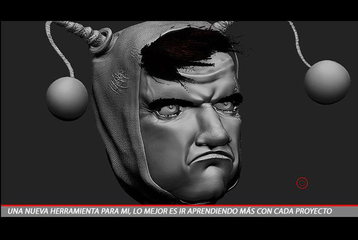 """Proceso de creación del Chapulín Colorado, en su versión malvada (Artista Carlos García """"Karurosu"""")"""