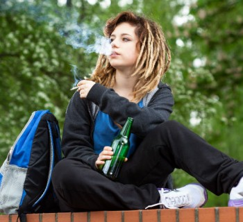 marihuana jóvenes chica