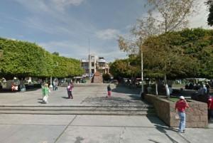 Zócalo de Ciudad hidalgo. Foto: Google Maps
