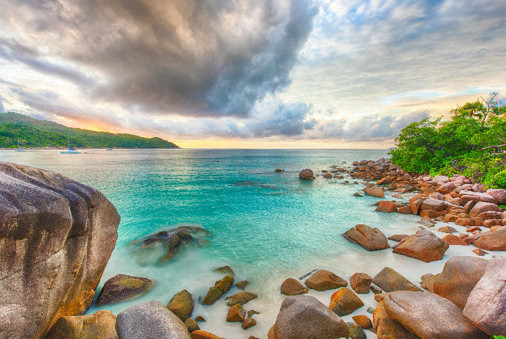 Anse Lazio, Isla de Praslin, Seychelles