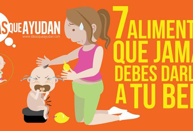 alimentos que jamás debes darle a tu bebé