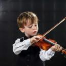 niño violín chica