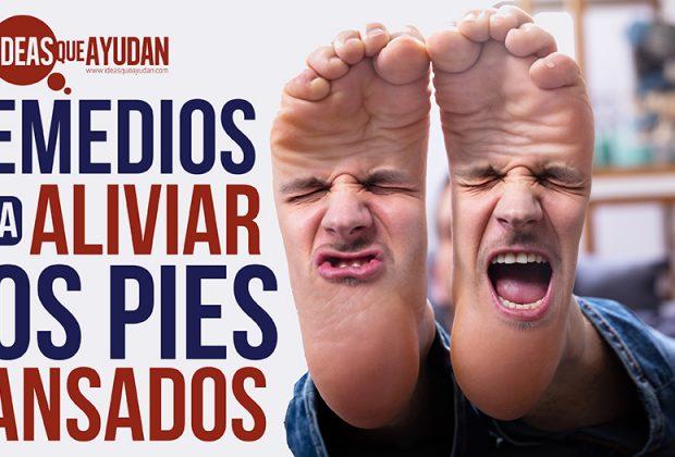 aliviar los pies cansados