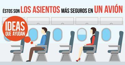 asientos más seguros en un avión