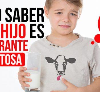 Cómo saber si tu hijo es intolerante a la lactosa