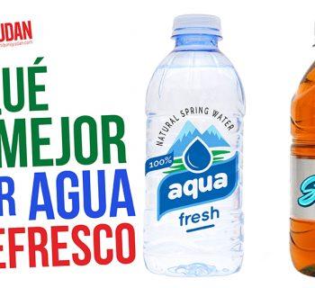 por qué es mejor tomar agua que refresco