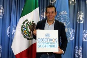 Yordi Rosado promoverá la Agenda 2030 de la ONU