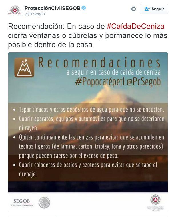Foto: Twitter de Protección Civil