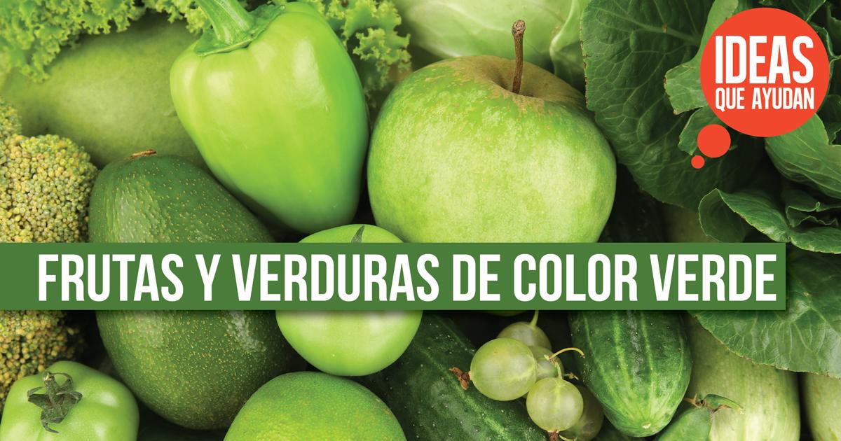 Conoce las frutas y verduras de color verde