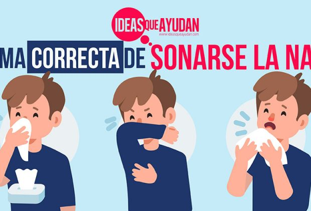 forma correcta de sonarse la nariz
