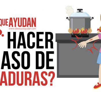 qué hacer en caso de quemaduras