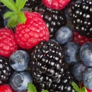 Frutas y verduras de color morado