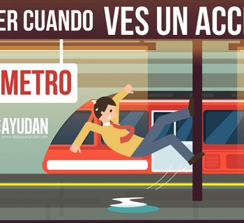 Qué hacer cuando ves un accidente en el metro
