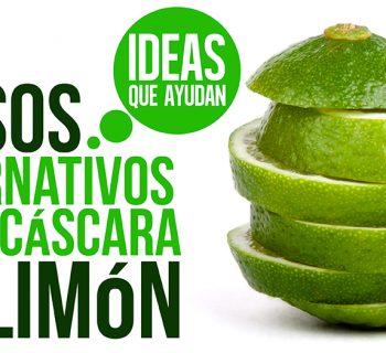 usos alternativos de la cáscara de limón