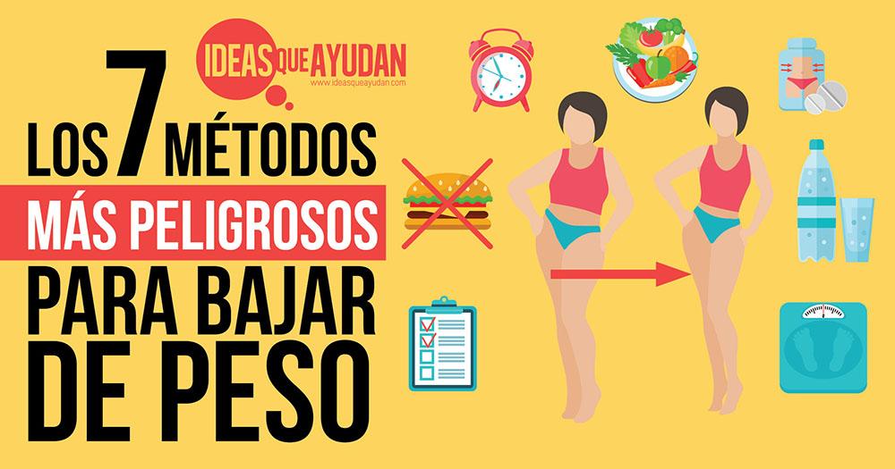 Bajar de peso, los 7 métodos más peligrosos - Ideas Que Ayudan