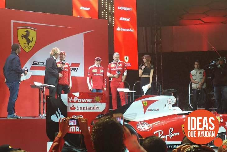 Los pilotos de la escudería Ferrari conviven con los fans en la Ciudad de México. Foto: Alberto Brito