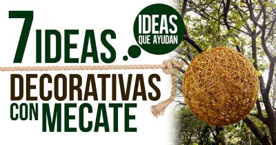 ideas decorativas con mecate