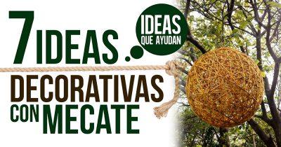ideas decorativas con mecate