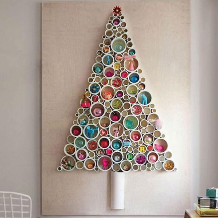 Ideas para hacer un rbol navide o reciclado - Ideas para decorar en navidad con material reciclable ...