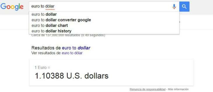Trucos con el buscador de Google
