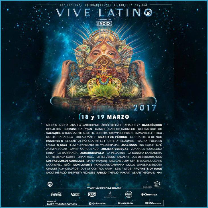 Cartel oficial del Vive Latino