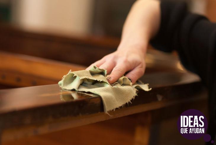 Limpia y pule tus muebles de madera fácilmente