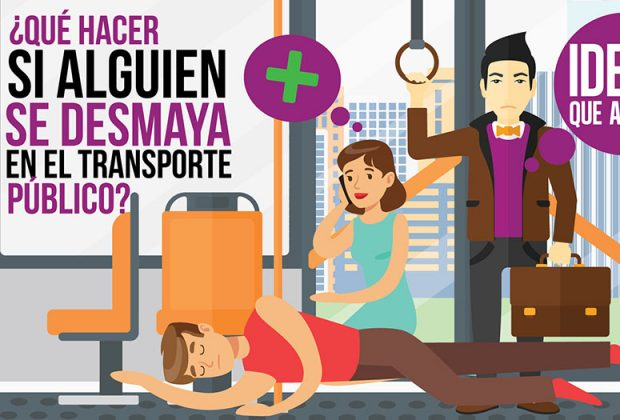 desmaya en el transporte