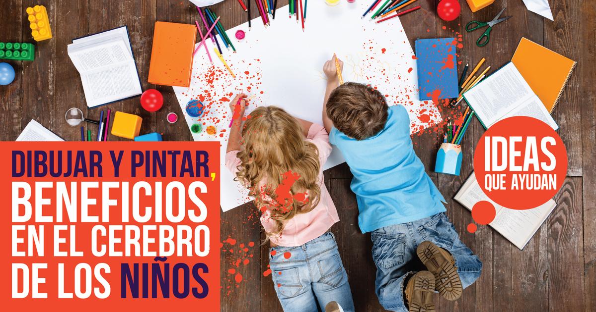Dibujar y pintar, beneficios en el cerebro de los niños