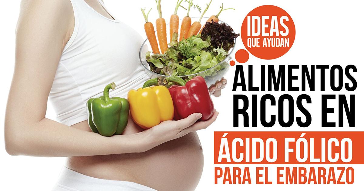 Alimentos ricos en cido f lico para el embarazo ideas que ayudan - Alimentos que contengan hierro para embarazadas ...