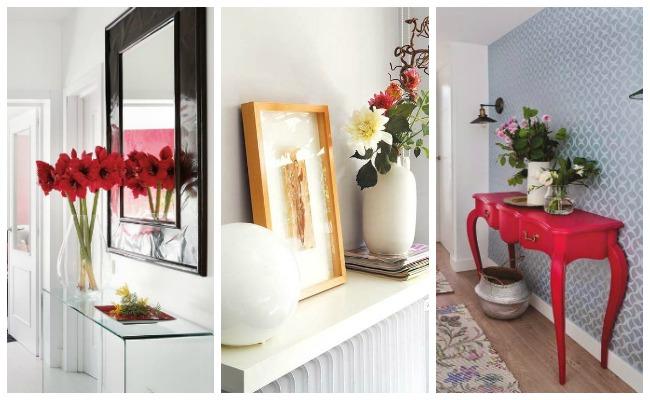 Tips para decorar tu casa con flores - Decorar una entrada ...