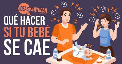 Qué hacer si tu bebé se cae