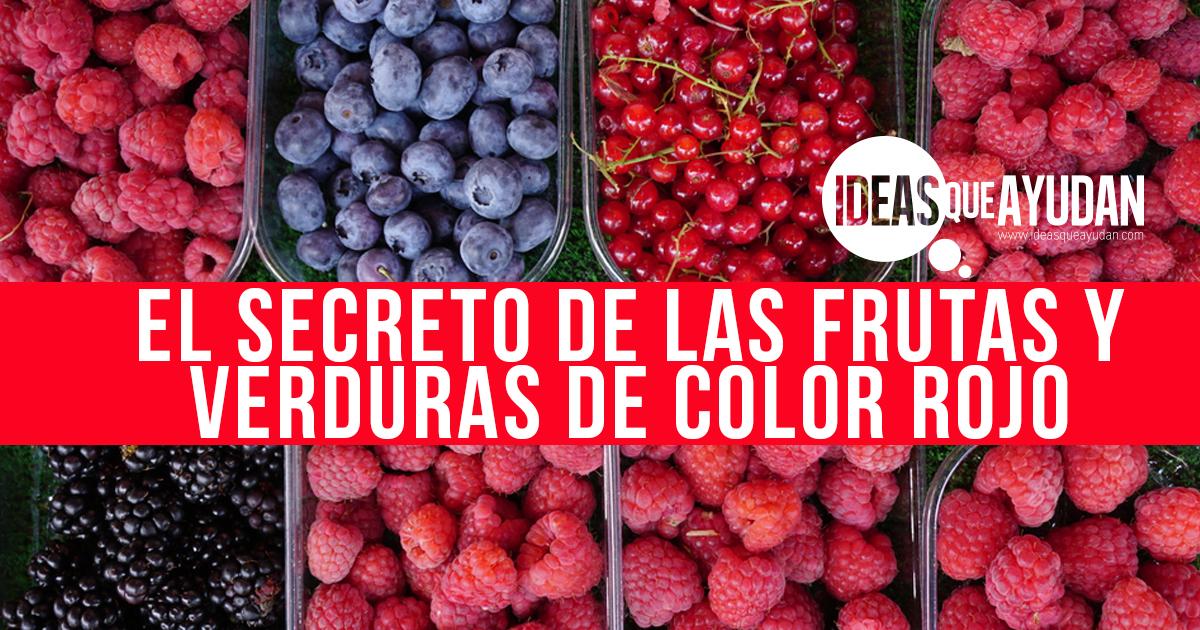 El Secreto De Las Frutas Y Verduras De Color Rojo