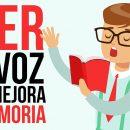 Leer en voz alta ayuda a tener una buena memoria