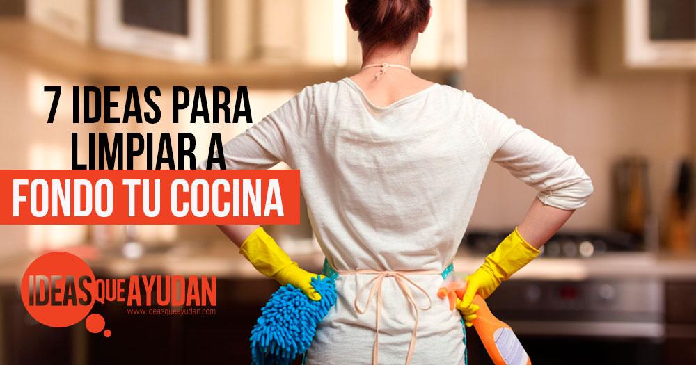 ideas para limpiar a fondo tu cocina