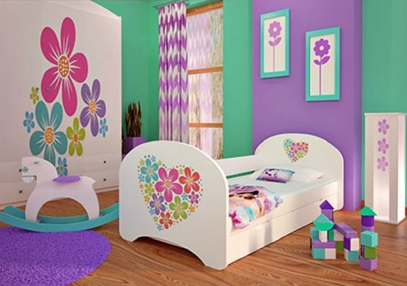 Decoraci n original para el cuarto de una ni a consi ntelas - Habitacion nina 2 anos ...