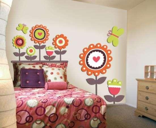 Decoraci n original para el cuarto de una ni a consi ntelas - Decoracion paredes habitacion infantil ...
