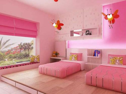 Decoraci n original para el cuarto de una ni a consi ntelas for Cuarto de nina rosa palido