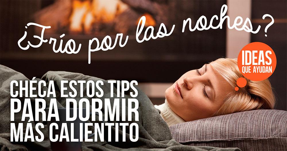 tips para dormir mas calientito