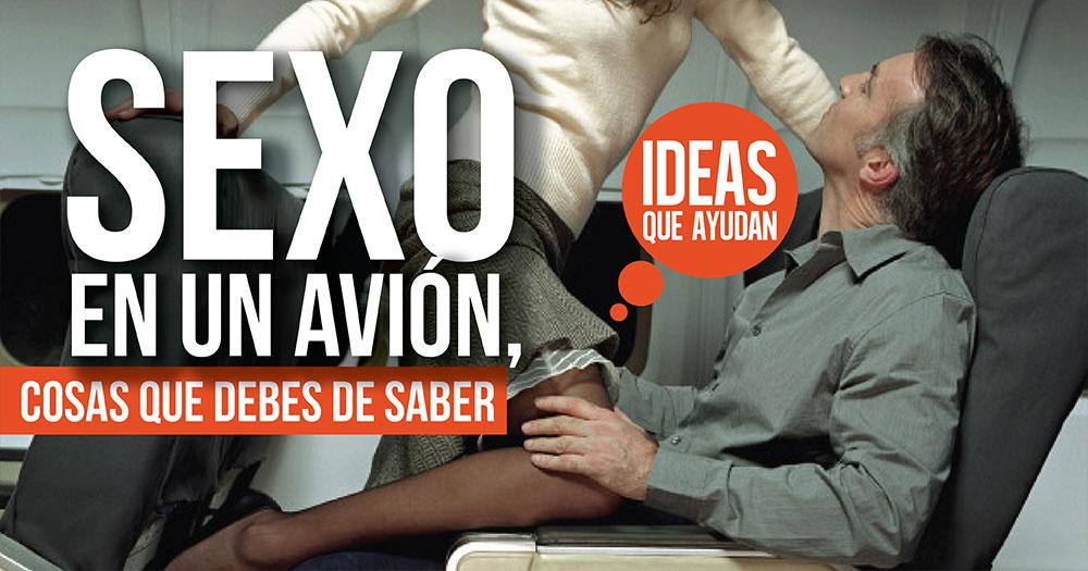 sexo en un avion