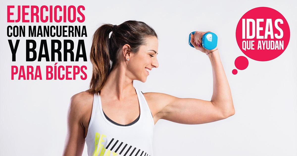 ejercicios de biceps pesas