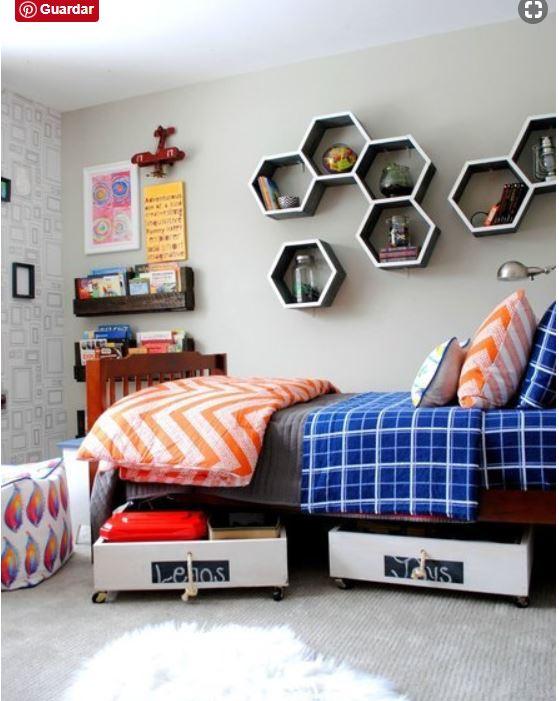 Ideas ingeniosas para ordenar la habitación de los niños