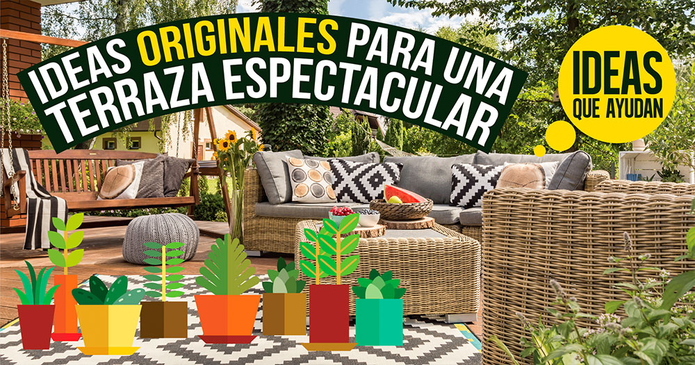 Ideas originales para una terraza espectacular