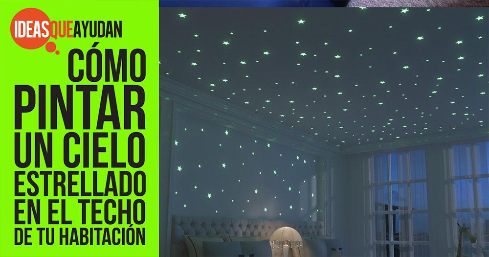 pintar un cielo estrellado en la habitación de tu hogar