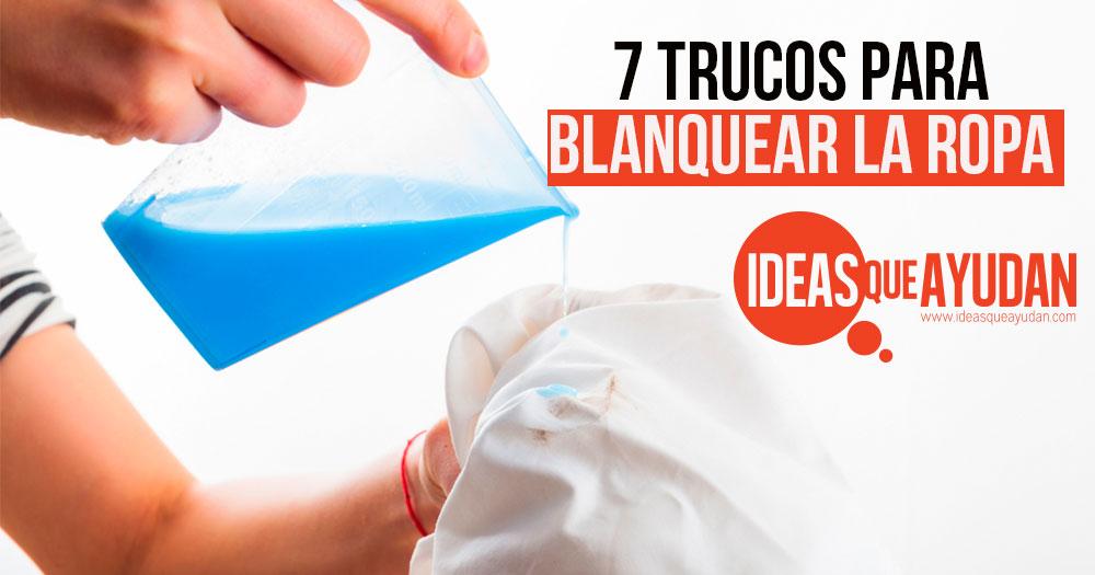 7 trucos para blanquear la ropa