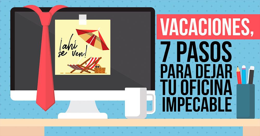 7 pasos para dejar tu oficina impecable