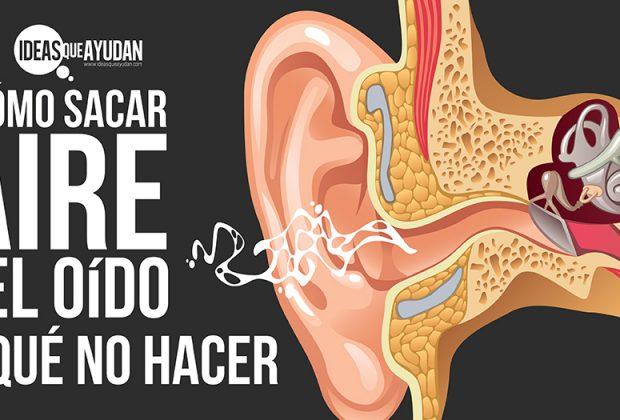 Como sacar aire del oído