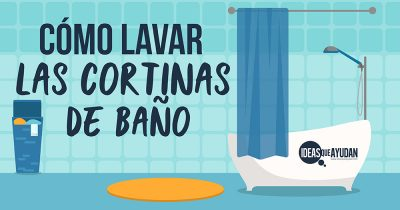 Cómo lavar las cortinas de baño